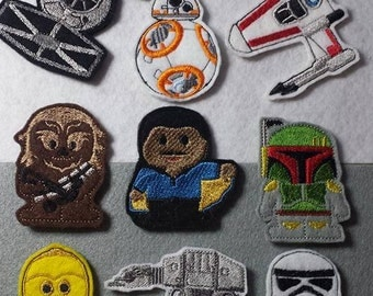 Star Wars  finger puppet Embroidery Designs set of 9