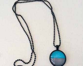 Blue splash pendant