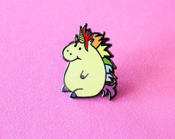 Mike the Unicorn Hard Enamel cloisonné lapel pin