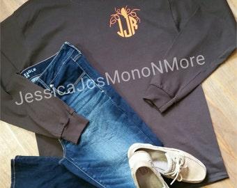 Pumpkin Shirt-Monogram Pumpkin Shirt-Aztec Pumpkin Shirt-Monogram Aztec Pumpkin Shirt-Fall Shirt-Festive Shirt-HTV