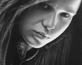 Ellen Page/Kitty Pryde Original Fine Art Pencil Drawing