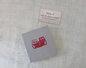 The circumflex - the creative - Mini book accordion - OWL - graph