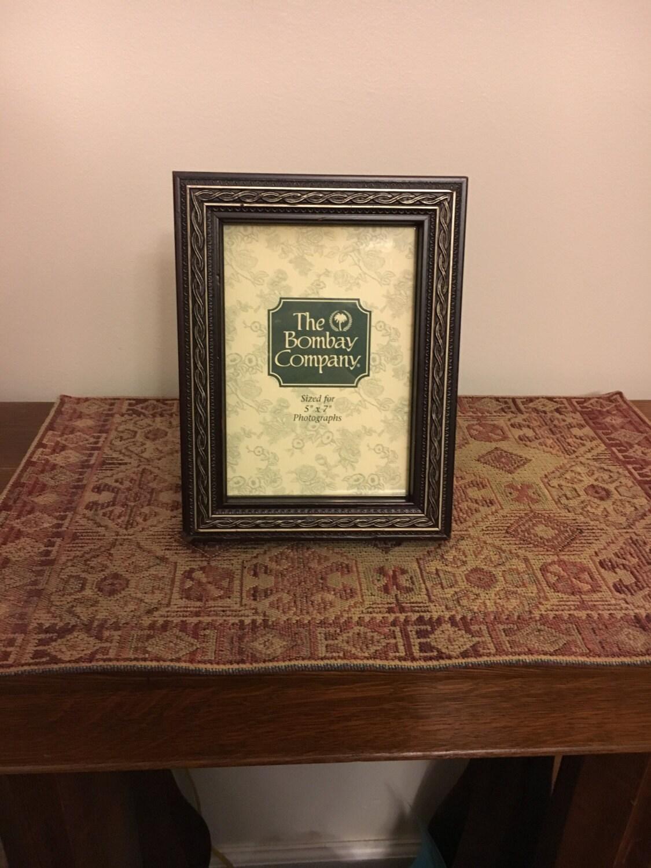vintage bombay picture frame 5x7 wooden picture frame the. Black Bedroom Furniture Sets. Home Design Ideas
