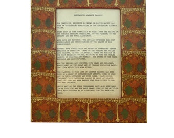 Vintae Kashmir India Lacquer Hand Painted Picture Frame **Free Shipping**