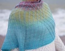 Lambton Panes Kits * Pre Order *  100% Superwash Merino - 2 x Companion 4ply - 100g 400m - Gradient and Solid yarn kit cowtown knits shawl