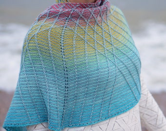 Lambton Panes Kits * Pre Order *  100% Superwash Merino - 2 x Companion 4ply - 100g 400m - Gradient and Solid yarn kit cowtown knits shawl