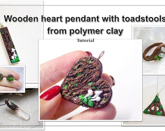 tree bark texture tutorial polymer clay step by step unique technique tree trunk toadstool INSTANT DOWNLOAD how to instructions pdf tutorial