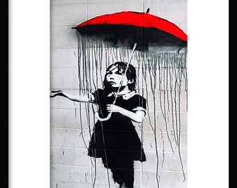Umbrella Girl - Banksy - Graffiti Art - Street art – Print - Poster