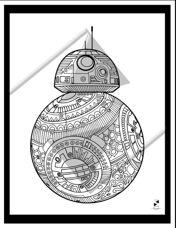 bb8 coloring page - bb8 coloring pages mandalas bb8 best free coloring pages
