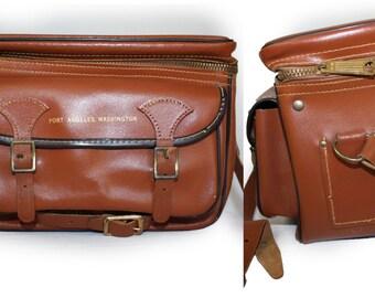 Vintage Bag  Leather Camera bag retro messenger bag Gadget case