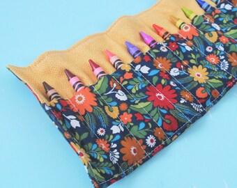 Crayon Roll - Flower garden