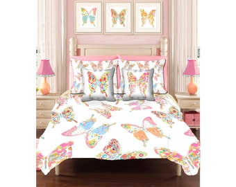 teen girls duvet cover queen duvet girl duvet girls bedding teen bedding butterfly bedding baby girls room twin duvet butterfly decor
