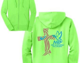 NBF Neon Green Zip-Up Hoodie
