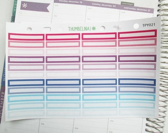 Appointment Strips for the Hourly Erin Condren Life Planner in a Pink/Purple/Blue Colour Scheme (TPY021)