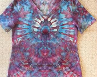 Ladies Faded Glory, 1X (16W), Ice Mindscape, Tie Dye