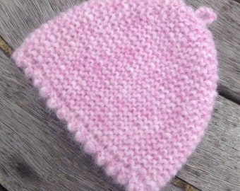 Baby hat / bonnet - NEW pink Alpaca & merino wool new born baby hat by Willow Luxury