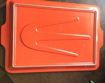 Club Aluminum red orange Roasting Broiling Platter
