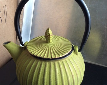 Small Vintage Metal Teapot with Strainer for Loose Tea