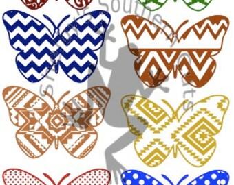 8 Butterfly Pattern SVG