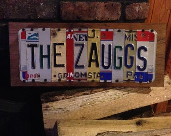 Custom License Plate Sign 9 Letters/Characters