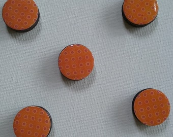 Orange & Red Magnet Set