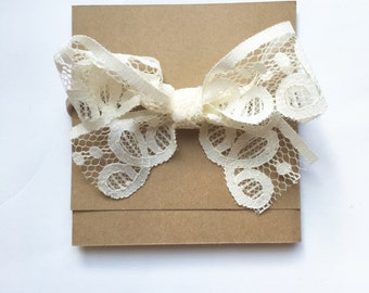 Vintage Biscuit Lace Bow