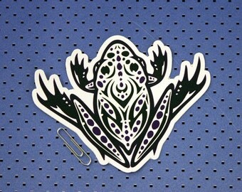 Tribal Toad Die Cut Bumper Sticker