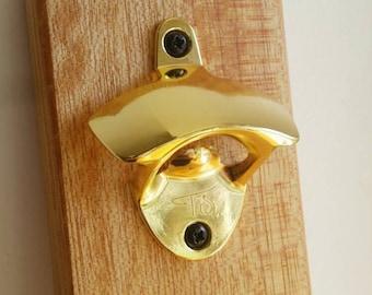 Wall mounted bottle opener. Magnetic mounted beer bottle opener. Handmade. Retro. Patio. Man Cave. Beer Opener. Rustic.