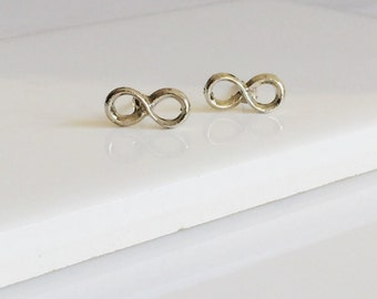 Infinity Earrings, Silver Earrings