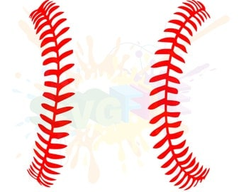 Softball Stitches SVG Files for Cutting Baseball Cricut Laces - SVG Files for Silhouette - Instant Download