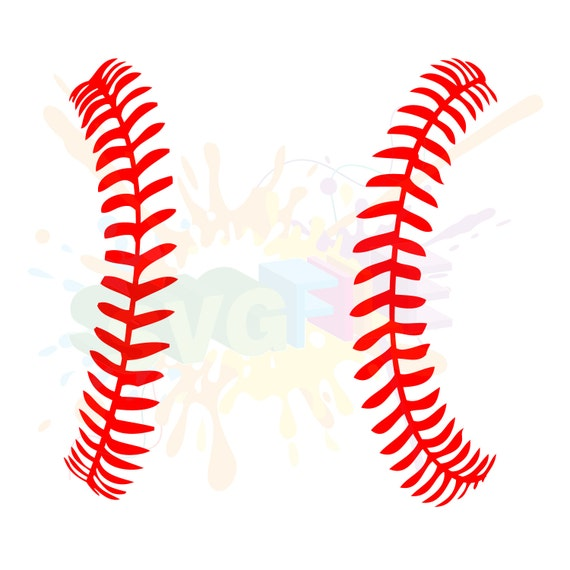 Softball Stitches SVG Files For Cutting Baseball Cricut