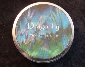 Dragonfly Solid Perfume, Solid Perfume, Patchouli essential oil, Lemon essential oil, Perfume, Dragonfly, Natural Perfume