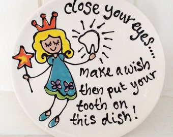 Hand Painted Tooth Fairy Dish
