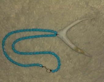 Turquoise antler necklace