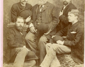Cabinet card of a group  (980)