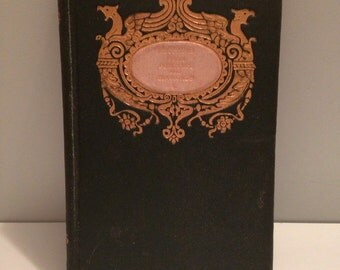 Antique 1894 Point Lace & Diamonds Poetry Book