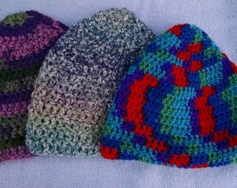 Crochet Beanie; Size Large