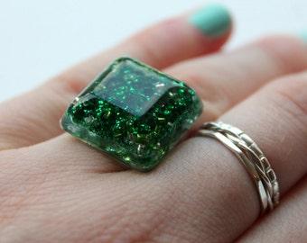 Ring, Resin Ring, Bead Ring, Adjustable Ring, Resin Jewellery