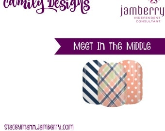 Meet in the Middle- Custom NAS Jamberry nail wrap
