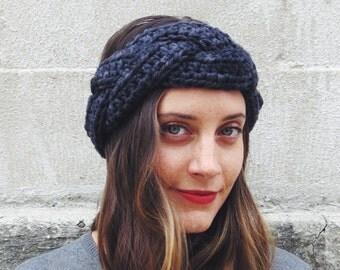 PATTERN for Braided Crochet Headband Ear Warmer // Crème De La Crème Headband PATTERN