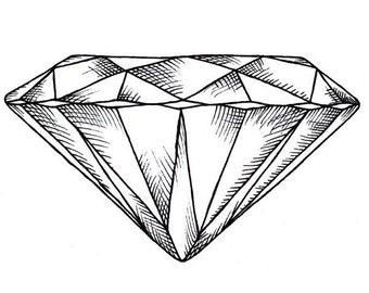 Includes 2 tattoos: Handmade Diamant Temporäres Tattoo, diamond temporary tattoo, hipster, shine, bling, temporär, geometrisch, geometric