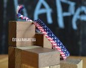 USA flag bracelet. friendship bracelet USA flag. July 4th gift. Independence Day. Best friend gift.