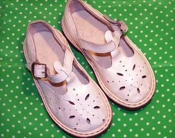 Genuine Leather Baby Shoes. Vintage Soviet Boots For Babies. Retro Sandals. Children's Summer Shoes Made in the USSR.  Booties For Kids.