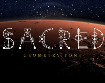 Sacred Geometry Font.  Commercial Download