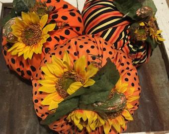 Fall Pumpkins, Orange Pumpkins , Striped Pumpkins, Pumpkins with Black Dots