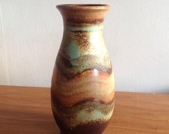 Vintage German Vase.Beautiful earthy Browns and greens
