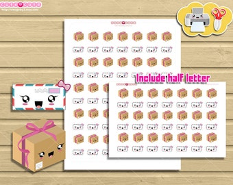 Happy mail Icons Printable Planner Stickers Perfects for  Happy planner and other life planners: Filofax, kikki k