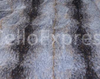 Brown Striped Wolf - Various Size Animal Fur