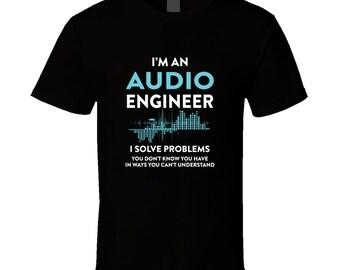 Engineer Gift, Audio Engineer Tshirt, Engineer Shirt, Black Tshirt, Black Top, Black Tee, Gift For Engineer, Music Art Gift, Gift Idea