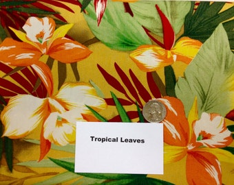 Tropical Leaves Fabric - 2 Yards